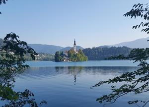 Getting off the beaten path at Lake Bled, Slovenia - Girl with a saddle bag